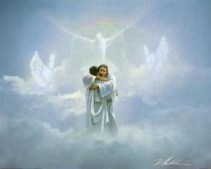 Jesus hugging dad