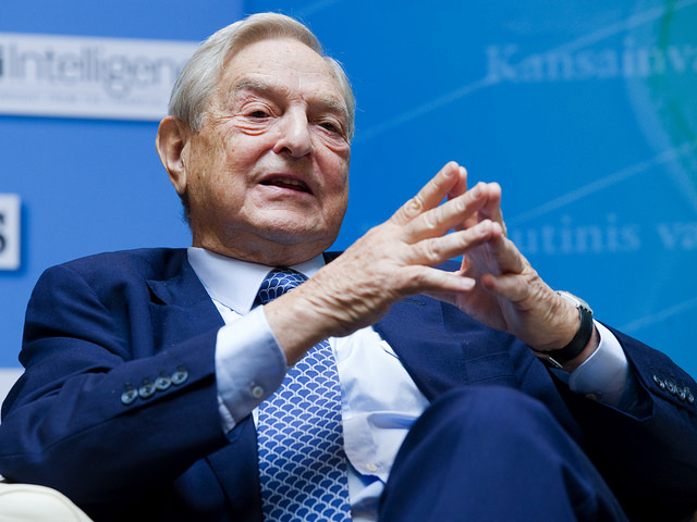 George Soros, Chairman Soros Fund Management answers a question during the IMF Seminar: Charting a New Growth Path for the Euro Zone on September 24, 2011 at the IMF Headquarters in Washington, DC. during the 2011 World Bank/IMF Annual Meetings The IMF/World Bank Meetings are being held in Washington, DC this week which will host Finance Ministers and Bank Governors from 187 countries. IMF Staff Photographer/Michael Spilotro
