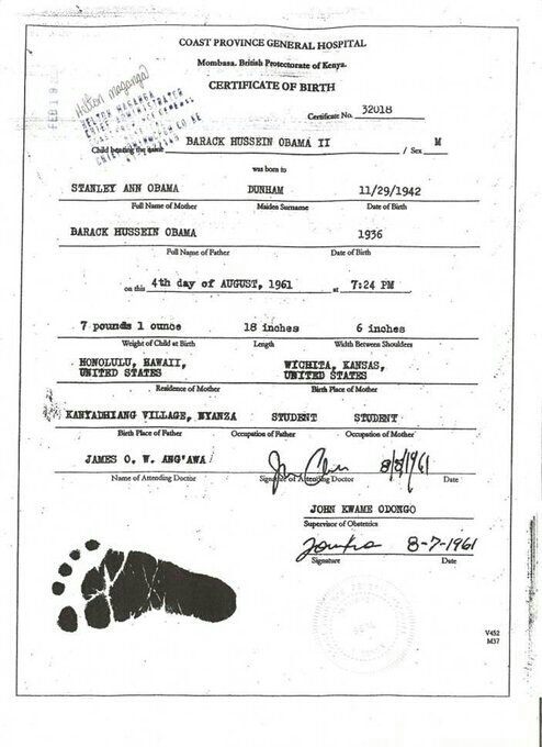 Obama\'s Brother Malik Shows BHO\'s Real Birth Certificate: Now What ...
