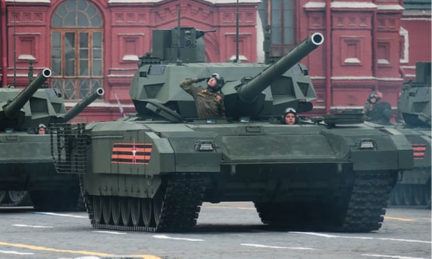 Russian armata tanks